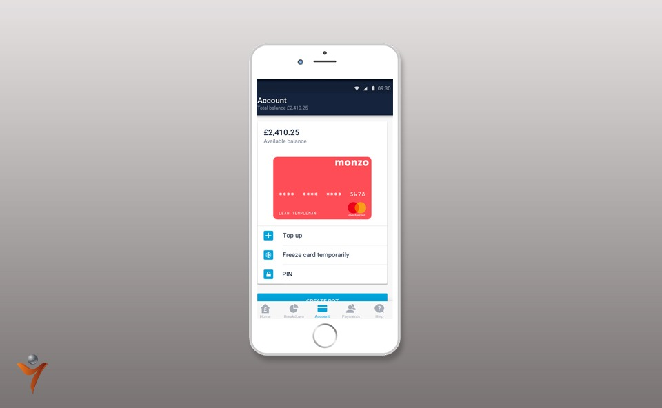 Monzo mobile bank