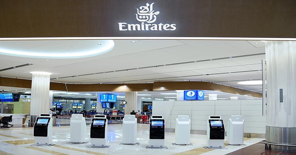 Emirates touchless kiosks