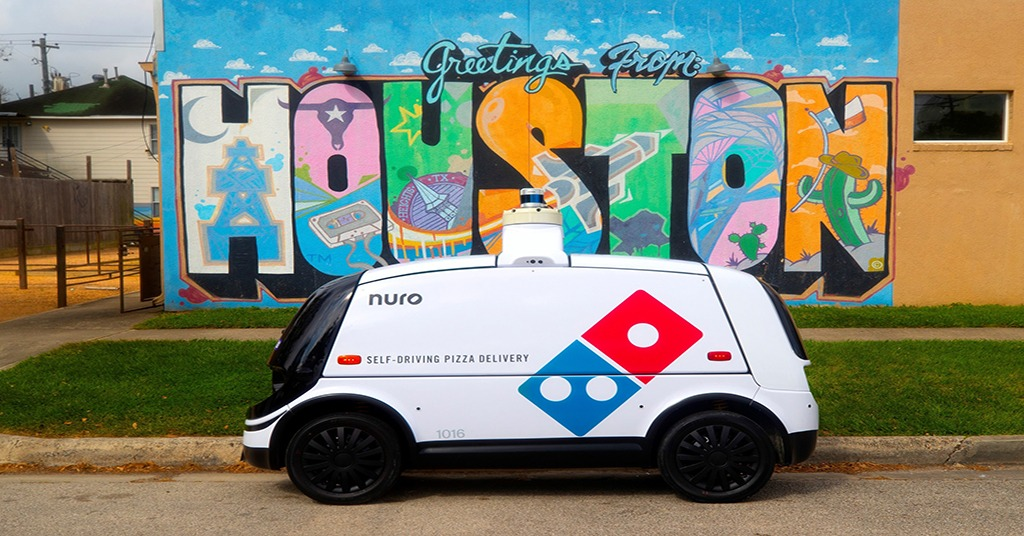 Domino's delivery robot